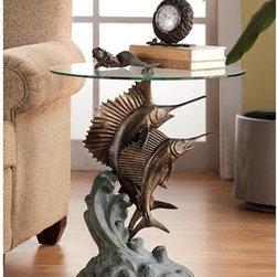Marlin & Sailfish End Table - Marlin and Sailfish End Table