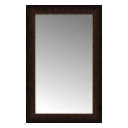 """Posters 2 Prints, LLC - 18"""" x 27"""" Dark Copper Custom Framed Mirror - 18"""" x 27"""" Custom Framed Mirror made by Posters 2 Prints. Standard glass with unrivaled selection of crafted mirror frames.  Protected with category II safety backing to keep glass fragments together should the mirror be accidentally broken.  Safe arrival guaranteed.  Made in the United States of America"""