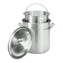 Barbour International - Bayou Classic 42-Quart Aluminum Stockpot - Features: