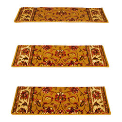 """Natural Area Rugs - """"Serenity"""" Carpet Stair Treads, Soft & Durable, 9"""" x 29"""" (Set of 13) - Crafted from durable and soft Polypropylene. Helps reduce slips on your hardwood stairs. Stain & soil resistant for easy cleaning. Reduces noise and wear and tear on your hardwood stairs. Adds subtle sophistication to any decor. Serged border egdes are finished with matching colored yarn. For installation, use """"intertape"""" double-sided heavy duty carpet tape or use carpet nails/tacks.  Each set contains 13 pieces."""