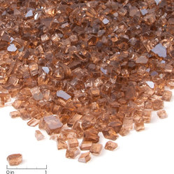 "Fire Glass Filler, Copper Reflective Glass - Glass Chips: .25""; Sold in 20 lb. Bags"
