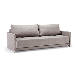 Gray Matter Sofa - This is a sofa for a smart decorator. It's a stand-alone, sleek piece, but can also fold out to become a modern and practical bed.