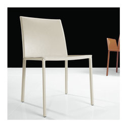 Luxo by Modloft - Sanctuary Side Chair - Synonymous with modern luxury and invites consumers to revel in a contemporary design-forward lifestyle. Luxo by Modloft offers consumers an entire lifestyle in which to live boldly and beautifully via its furniture collections and accessories. Made in Brazil using only environmentally sustainable materials, Luxo by Modloft delivers uncompromising quality with undeniable flair. Well Made. Well. Priced. Well Done. Features: -Dining chair.-Solid frame fully covered in natural leather.-Please note: This item can not be cancelled after purchase due to the custom nature of the product..-Collection: Sanctuary.-Distressed: No.Dimensions: -Overall Product Weight: 17 lbs.