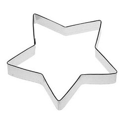 "HOF - Star 5.5 In. B1216 - Star, Tin Plate Steel, Size: 5.5"", Depth 7/8"", Color: Silver"