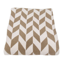in2green - Eco Chevron Throw, Khaki - his geometric pattern will add color and texture to your favorite seat in the house. The two-toned Chevron pattern comes in an assortment of colors and is the perfect weight for any season.