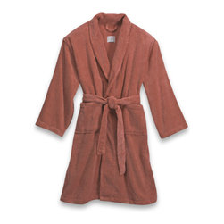 London Luxury Hotel Collection Zero Twist Unisex Bathrobe, Rose - What house guest wouldn't love to be wrapped up in this terry bathrobe after a warm shower? Sold.