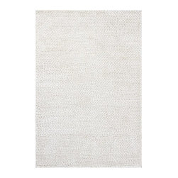 Mandara - Hand-woven Mandara New Zealand Wool Rug (7'9 x 10'6) - Enhance your home decor with this handmade Mandara shag rug. This ultra thick and plush rug is hand woven in India using premium quality New Zealand wool with polyester. This rug features shag pattern in shade of white.