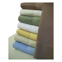 Bed Linens - 100% Bamboo Pillow cases (pair) King  Blue - Wrap your self in the softness of the luxurious 100% silky bamboo sheets like those found in royalty homes. You won't be able to go back to cotton sheets after trying these 100% bamboo sheets. Amazingly soft similar to cashmere of silk. 60% more absorbent than cotton. Sustainable, fast growth rate over 1 meter per day. Requires significantly less pesticides than cotton and is naturally irrigated. Natural anti-bacterial and deodorizing properties.
