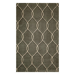 """Momeni Rug - Momeni Rug Bliss 2'3"""" x 8' Runner BS-12 Steel BLISSBS-12STE2380 - With hand carving to bring depth, the Bliss Collection is perfect for the transitional home that blurs the line between traditional and contemporary. These rugs are hand tufted from the softest blends of polyester and are meant to stand the test of time. Bliss spotlights bold patterns and rich earthen colors that add character and personality to any room in the home."""