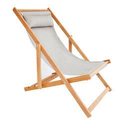 Gallant & Jones - Moolak Chair - Deck chair with Fabric Sling and Pillow