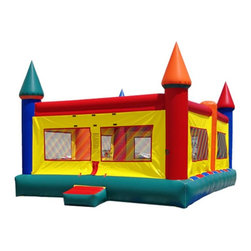 Kidwise - Kidwise 20 ft. x 20 ft. Castle Bounce House - KE-MN1220 - Shop for Tents and Playhouses from Hayneedle.com! Let all the kids be kings and queens of the castle for a day of royal fun with the Kidwise 20 ft. x 20 ft. Castle Bounce House. It features a colorful castle theme with a large capacity bouncing area and is perfect for a variety of events including birthday parties church functions fairs festivals or block parties. This commercial grade inflatable is made of durable 18-ounce colorful PVC vinyl and comes complete with blower repair kit stakes tarp and even a blank banner for advertising.About Kidwise ProductsThis item is made by Kidwise Outdoors a company whose focus is safe fun excitement for kids. Kidwise strives to promote safe play for kids of all ages through outside activities. Their line of products includes swing sets trampolines inflatable bouncers bikes sport goals and many other items to choose from. Kidwise guarantees all of their products against defects. Like Hayneedle their goal is 100% satisfaction from customers. Their product lines focus on kid-friendly items that are fun to play with and stimulate balance and a healthy lifestyle for kids.
