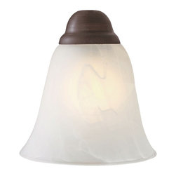Golden Lighting - Grace Marbled Glass Shade - Bulb not included. Neckless. The fitter hole may vary from 1.5 - 1.75 in.. White marble glass for brighter light. 6 in. Dia. x 5 in. H. Warranty