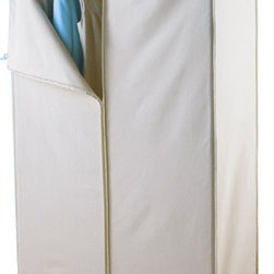 InterMetro Garment Rack with Cotton Canvas Cover - For storing your off-season duds, or maybe for those lacking built in closet space, this portable clothes rack is a functional and attractive solution for keeping your clothes tidy and out of sight.