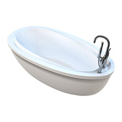 Atlantis Whirlpools - Atlantis Whirlpools 3871BW Breeze Bathtub - 6 directional and adjustable water jets, powered by 1HP electric water pump with inline heater (for maintaining the water temperature); free-standing construction