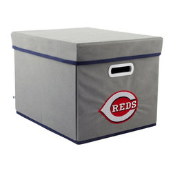 MyOwnersBox - MyOwnersBox Closet Organization MLB STACKITS Cincinnati Reds 12 in. x 10 in. x - Shop for Storage & Organization at The Home Depot. The MyOwnersBox 10 in. x 12 in. x 15 in. Cincinnati Reds MLB STACKITS Stackable Grey Fabric Storage Cube has an attractive team embroided logo that looks great in your storage area. Made of sturdy non-woven polypropylene and reinforced with composite wood this storage cube has a collapsible design and folds out to form a perfect bankers box size that fits letter and legal sized folders and hanging files . Great for adding team spirit to your office or home office as well as tight spaces in your closet or college dorm room. The storage cube is also ideal for storing clothing or small toys in your children's room or laundry room. The lid is reinforced to allow stacking of 3 or more storage cubes and each comes with two reinforced plastic handles for easy mobility. Color: Grey.