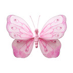 Bugs-n-Blooms - Hanging Butterfly Medium Pink Shimmer Nylon Butterflies Wall Ceiling Decorations - Hanging Shimmer Butterfly - Beautiful nylon hanging kids wall or ceiling decor, baby decoration, childrens decorations. Ideal for Baby Nursery Kids Bedroom Girls Room. This gorgeous hanging butterfly is embellished with sequins and shimmering glitter. This pretty butterfly decoration is made with a soft bendable wire frame. Beautiful 3D hanging nursery, bedroom, birthday party, baby shower or wedding decor. Includes a piece of fishing line and hoop for easy hanging to any wall or ceiling (removable if desired). Sold individually. Visit our store for more great items. Additional sizes are available in various colors, please see store for details. Please visit our store on 'How To Hang' for tips and suggestions. Please note: Sizes are approximate and are handmade and variances may occur. Price is per each butterfly (1) piece