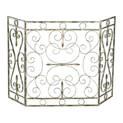 Cyan Design - Cyan Design 04094 Crawford Fireplace Screen - Cyan Design 04094 Crawford Fireplace Screen