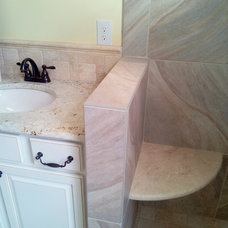 Transitional Bathroom by Tile Time, Inc.