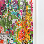 Woodland Garden Curtain - The bright colors and whimsical designs make this a perfect choice for a playroom or kid's bedroom.