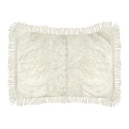 Ultra Spa English Garden Standard Pillow Sham - A tufted beauty, the Ultra Spa English Garden Standard Pillow Sham will give your bedroom set a soft update. Delicately embroidered, this pillow sham is 100% cotton. Deep ridges are accented with luxurious fringes. The cream color is a perfect accent to your existing decor, making it an easy addition. Give your pillows new life with this gorgeous sham.