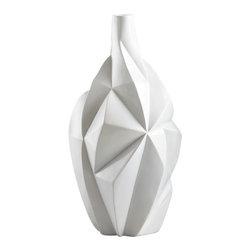 Cyan Design - Glacier Vase - Medium - Medium glacier vase - gloss white glaze