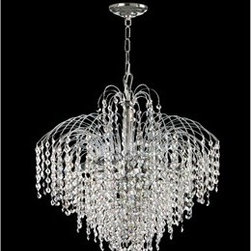 Dale Tiffany - Dale Tiffany Massa Crystal Six-Light 18'' Wide Mini Chandelier - Founded in 1979 Dale Tiffany started out manufacturing both art glass lamps and windows. Within two years the company's main focus became Tiffany-styled lamps and shades emphasizing high-quality reproductions of Louis Comfort Tiffany's designs. At the same time Dale became the first factory worldwide to standardize stained-glass production and became a national resource for a product category that had been only regionally produced. Today Dale Tiffany has become the world's foremost designer and manufacturer of fine art glass lighting and home accessories. Using only the highest quality genuine hand-rolled art glass Dale offers an extensive range of designs utilizing the copper foil technique an authentic glass assembly method originally developed by Louis Comfort Tiffany over 100 years ago. With this handcrafted process no two pieces are exactly alike making each design a treasured keepsake. Featuring stained glass reverse-painted glass hand-blown glass and many other techniques and inspired by the legendary designs of L.C. Tiffany Philip J. Handel Pairpoint and others Dale Tiffany has not only captured the timelessness of America's classic designers but utilizes it's own creative skills to develop unique designs that blend perfectly with today's current home fashion trends and lifestyles. Whether producing expensive replicas or affordable budget-priced merchandise Dale insists on the highest standards of quality and workmanship for every one of its products. Each glass shade is inspected on a light box to ensure brilliance of color pattern continuity and structural integrity. Each base is similarly inspected having been manufactured in accordance with UL and CUL standards. All products are then assembled tested and packed according to guidelines that meet or exceed industry standards ensuring only the highest quality reaches the consumer's home. So if your need is a table or floor lamp a hanging fixture or a wall sconce candle votives photo frames night lights or accent lamps Dale's extensive product lines offer the finest selection of art glass lighting and home accessories on the market.