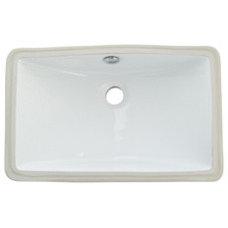 Courtyard White Undermount Lavatory Sink   Overstock.com