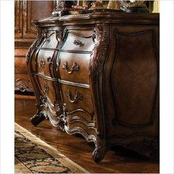 AICO Furniture - Palais Royale Double Dresser in Rococo Cognac - 71051 - Rococo Cognac finish