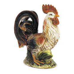 iMax - Multicolored Rooster - A proud stance makes this Multicolored rooster the perfect addition to anyone's collection or as a stand-alone accent piece.