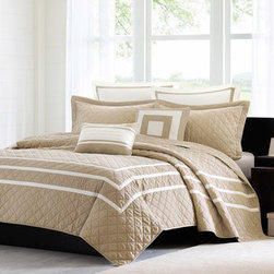 Madison Park Columbia 7-piece Quilted Coverlet Set -