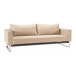 Innovation USA - Innovation USA | Cassius Sleek Sofa, Chrome Base - Quickship - Design by Per Weiss, 2008.