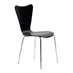 East End Imports - Arne Jacobsen Style Series 7 Side Chair Black - Minimalist in nature though it may be, this seat doesn't skimp on comfort. Its seemingly rigid design, flexes to the contours of the human body, making it a great side chair for homes and businesses alike.