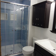 Contemporary Showers Small Bathroom Remodel