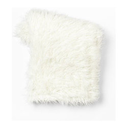 Faux Fur Throw, Mongolian Lamb - I would love to curl up with this faux Mongolian lamb fur throw. But even just thrown on a chair, it makes a great decor piece.