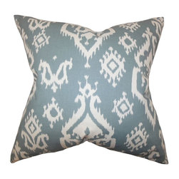 "The Pillow Collection - Halona Ikat Pillow Teal 20"" x 20"" - Eccentric and hip, this throw pillow packs some interesting design. Decorated with an ikat-inspired pattern in white against a teal background. This toss pillow offers an eclectic vibe to any of your rooms. Use this indoor pillow for lounging or to add support to your sofa, bed or couch. Made of 100% durable and plush polyester fabric."