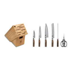 Shun - Shun Premier 7-Piece Essential Knife Block Set - Set Contains: