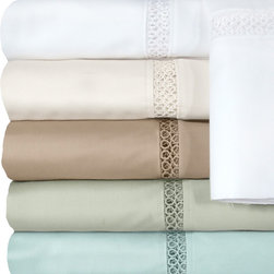 Grand Luxe - Grand Luxe Egyptian Cotton Payton 300 Thread Count Deep Pocket Sheet or Pillowca - Make sure that thicker mattresses are properly fitted with these deep pocket cotton sheets. These colorful sheets are designed to fit mattresses up to 18-inches thick,providing a soft cotton 300 thread count surface for you to sleep on.