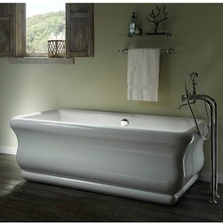 "MTI - MTI Parisian 2 Tub (72"" x 40"" x 23"") - The Parisian 2 from MTI is a freestanding tub that embodies nostalgia for the luxury of yesteryear available in today's materials and with today's technology. While Parisian's exterior is bold, its interior is ergonomically sensitive with softly curved backrests that invite and foster relaxation in a long hot soak. Parisian is also available as an air bath, enabling the bather to enjoy the comfort and charm of yesterday enhanced by the therapeutic technology of today. This tub is currently only available in white. MTI Engineered solid-surface tubs: Made by hand, one-at-a-time in the USA All MTI tubs are individually manufactured and handcrafted using the highest-quality materials. Each product is built according to the specifications of the customer when it is ordered. Multiple quality control checks are employed, including individual water-testing and component operation. MTI's goal is to provide customers with handcrafted, quality products that meet their needs and desires. Like the other products in MTI's Designer Series, the Parisian 2 is made in the USA and handcrafted in high-gloss Lucite(R) cast acrylic, which is extremely scratch- and stain-resistant. A further benefit is that acrylic is non-porous, which makes cleaning and sanitizing faster and more effective. Lead time in any configuration is 21 business daysPlease note, custom orders may not be returned. More information regarding the return policy of your custom-built MTI Whirlpools product is available here Features: Model No.: MTDS-178 Size: 72"" x 40"" x 23.375"" Soaker Weight: 280 lbs. Max fill: 87 gal. Drain Type: Center Persons: 2 Undermountable: No Tub/Shower Suitable: No Material: Acrylic Lead time in any configuration is 21 business days View Spec SheetNote: This item usually ships in 21 business days from the manufacturer. Please allow an additional 2-3 business days for order transmittal and verification."