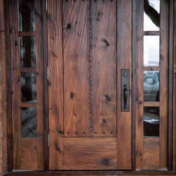 YT Custom Shop - Custom entry door with carvings and sidelites.