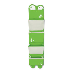 P'kolino - P'kolino Mess Eaters Hanging Organizer, Green - Perfect Organization for Toys, Shoes, Art Projects and much more!