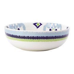 Rachael Ray - Rachael Ray Ikat 10 in. Serving Bowl Multicolor - 58770 - Shop for Bowls and Candy Dishes from Hayneedle.com! The Rachael Ray Ikat 10 in. Serving Bowl is more than just a handy serving bowl - it s a great way to deliver a modern global vibe to any meal of the day. Combining bold textural deal with equally bold color this serving bowl can showcase everything from your favorite potato salad at the dinner table to a fruit selection sitting on the countertop. Sturdy enough for everyday use it s crafted of durable non-porous stoneware that holds heat so food stays warmer longer. Plus it s safe for the dishwasher and microwave and oven safe to 250F degrees for up to 30 minutes. Use with your own dinnerware or pair with other pieces in Rachael Ray s distinctive Ikat collection.About Rachael RayThis collection of fun functional colorful cookware is inspired and endorsed by TV personality Rachael Ray. Express yourself through your cookware with these truly unique pieces made with high-quality materials like cast iron and bright enamel exteriors. These hard-working pieces are perfect for all types of cooks from casual home users to commercial chefs and you'll love the way they look in your kitchen.