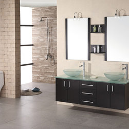 "61"" Portland Double Vessel Sink Vanity (DEC005) -"