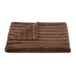 Belle & June - Lux Channel Stripe Chocolate Throw - Wrap yourself in a luxurious embrace with this throw blanket. A great gift to give or receive, use it to add layers of texture and color to your bed, sofa or chaise.