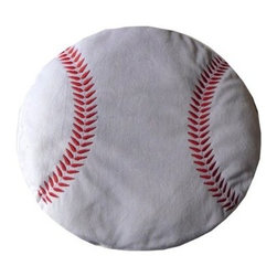 Baseball Plush Pillow - Plush Novelty Pillow
