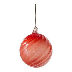 Working Man Hand Made - Bright Red Holiday Ornament, Ball - All of our holiday ornaments are made using traditional Italian glass blowing techniques accentuated by bright and festive colors. Our line of transparent ornaments will brighten your holiday season!