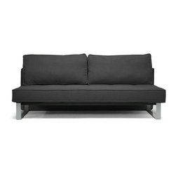 Baxton Studio - Baxton Studio Shelby Dark Gray Linen Modern Sofa Bed - The simplicity of a minimalist sofa and the versatility of a sofa bed are just two reasons why the Shelby Sofa Bed is a new favorite. This sturdy piece is made in China with a wooden frame, metal legs, foam cushioning, and charcoal gray linen upholstery. When temporary sleeping space is a must, simply remove the backrest cushions, pull forward the seat, and fold down the backrest into a futon sleeper sofa. Assembly is required and spot cleaning is recommended. The Shelby Modern Sleeper Sofa is also available in beige linen (sold separately).