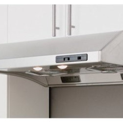 Zephyr 36W in. Cyclone Under Cabinet Range Hood - The crisp, modern lines of the Zephyr 36W in. Cyclone Under Cabinet Range Hood are sure to turn more than a few heads. For a custom fit to your kitchen's decor you can choose from the available eye-catching finishes. Its centrifugal motors offer 3 speeds to automatically remove grease from the air to be collected in residue cups for cleaning. With all this power, this range hood still operates quietly. You won't be left in the dark either thanks to the pair of lights with two brightness levels.About ZephyrSince 1997 Zephyr has remained true to their vision of delivering the unexpected. Founder Alex Siow embraced the idea that a kitchen hood could do much more than vent air, it could be as distinctive in its design as in its performance. Zephyr was first to recognize the demand for powerful, professional-grade hoods for the home that were also beautiful. They answered the call with their Power Series of high CFM range hoods that put air quality concerns to rest with quiet efficiency. Zephyr raised the bar with self-cleaning, filter-free technologies. Their solid reputation for well-construction, high-powered range hoods is matched by their style and design. Fashion-forward and inspired, their lines of range hoods include original works from renowned designers Robert Brunner, Fu-Tung Cheng, and David Lewis.
