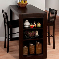 Jofran Maryland Merlot Counter Height Table - The Jofran Maryland Merlot Counter Height Table is perfectly designed to fit in small rooms, breakfast nook or small kitchen.
