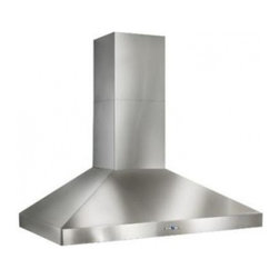 """Best - WPP9IQ42SB 42"""" Colonne Chimney Range Hood with 600 CFM Blower  Halogen Lighting - The traditional chimney hood design from Italy has stood the test of time The Colonne builds on this legacy with new powerful design that can handle the needs of pro-style cooking"""