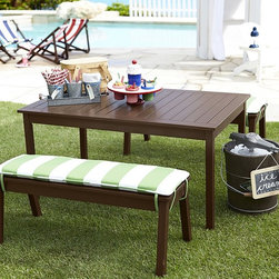 Chesapeake Table & Bench - Bring the fun to the outdoors. Kids will enjoy inviting their friends over for a picnic on their own patio furniture.